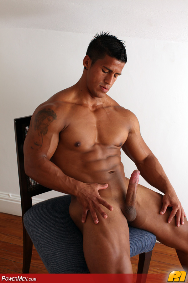 Sexy latin muscle guy naked